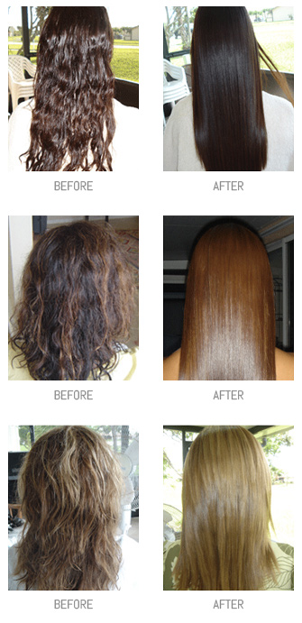 Brazilian Keratin Treatment Before and After Photos